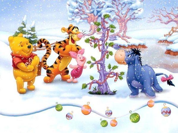 новогодние мультфильмы для детей - Винни Пух