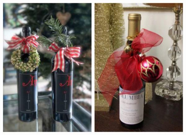 как упаковать бутылку, как упаковать бутылку на подарок, как упаковать бутылку на Новый Год