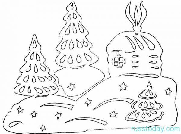 вытынанки новый год, новый год трафареты на окна, снежинки трафареты