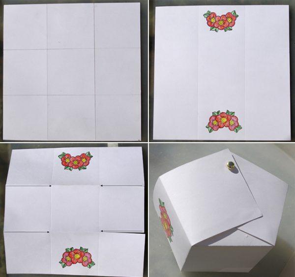 пасха, пасха 2019, пасхальная корзинка, пасхальная корзинка своими руками, коробочка для пасхальных яиц, коробочка оригами, коробочка для яиц своими руками схема