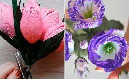 Цветы из бумаги своими руками: 10 невероятных мастер-классов