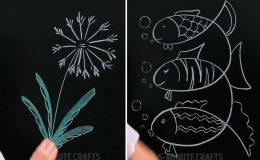 Рисуем мелом на доске: простые техники красивых рисунков
